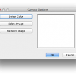The Canvas Options Dialog